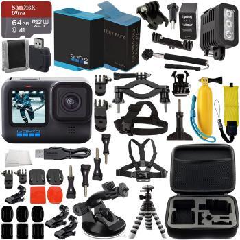 GoPro HERO10 (Hero 10) Black with Premium Accessory Bundle: SanDisk Ul
