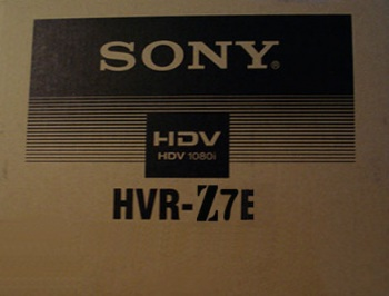 Sony HVR-Z7E 1080i HDV PAL Camcorder with Interchangeable Lens