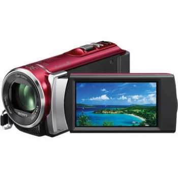 Sony HDR-CX210E High Definition Handycam Camcorder - PAL (Red)