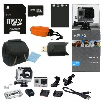 GoPro HERO3+ Silver Edition Camera + Essential Bundle