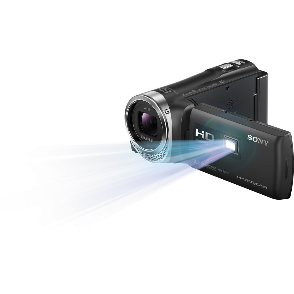 Sony 16GB HDR-PJ340 Full HD Handycam Camcorder with Built-in Projector (Black)
