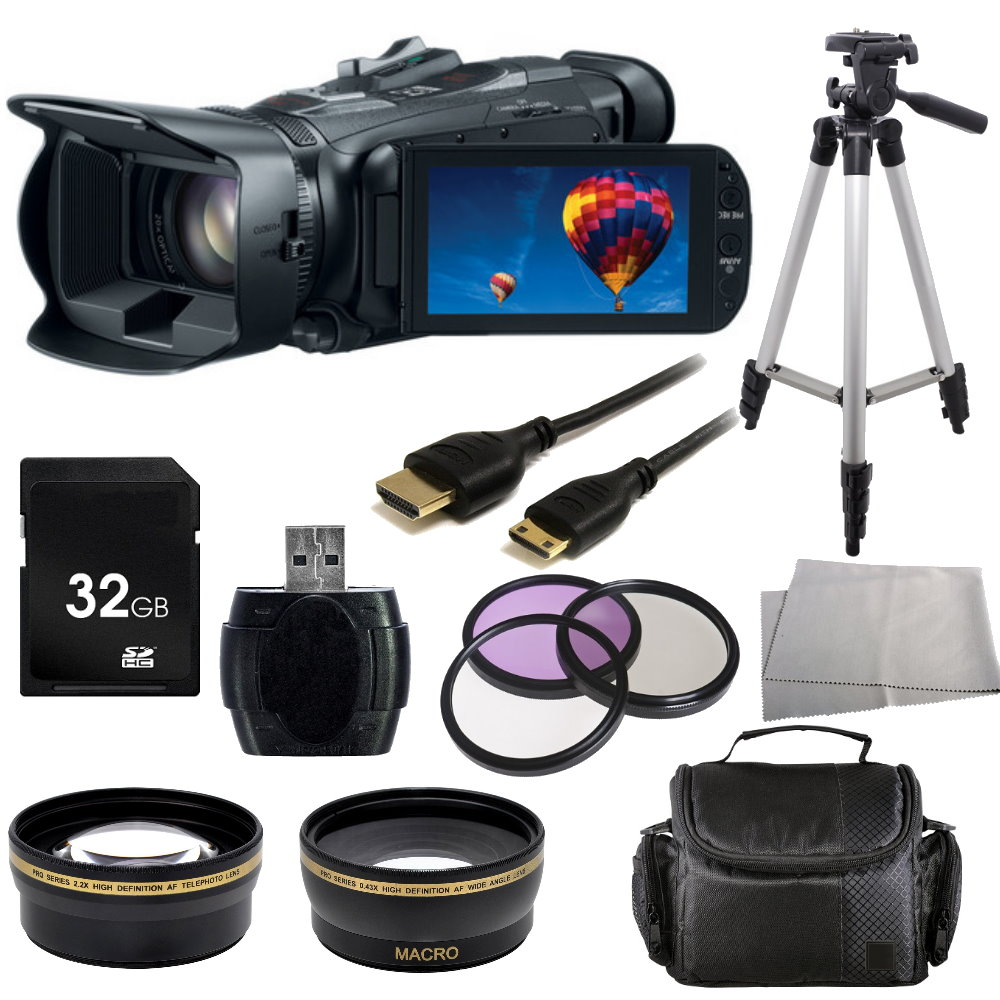 Canon Legria HF G30 Full HD Camcorder (PAL) + Accessory Bundle