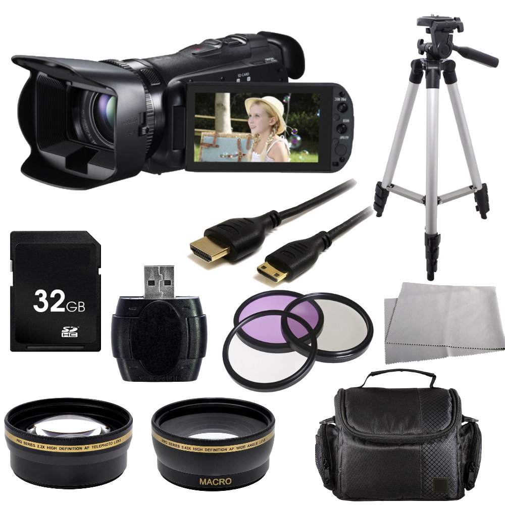 Canon Legria HF G25 Full HD Camcorder (PAL) + Accessory Bundle