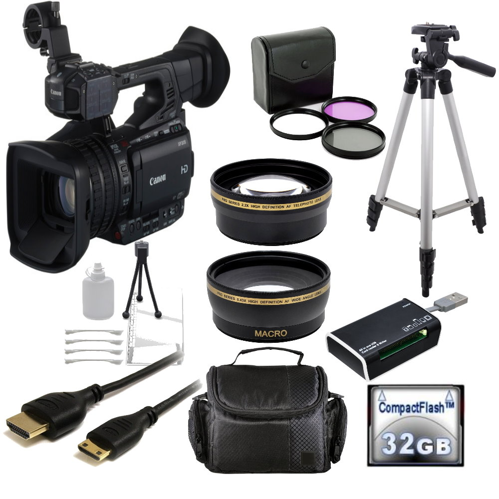 Canon XF205 HD Camcorder (PAL) + Accessory Bundle