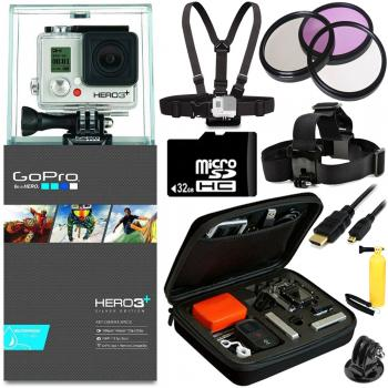 GoPro HERO3+ Silver Edition Camera + All Sports Bundle