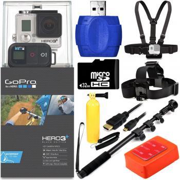 GoPro HERO3+ Black Edition Camera + Surf Kit Bundle