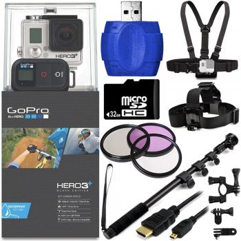 GoPro HERO3+ Black Edition Camera + Bike Kit Bundle