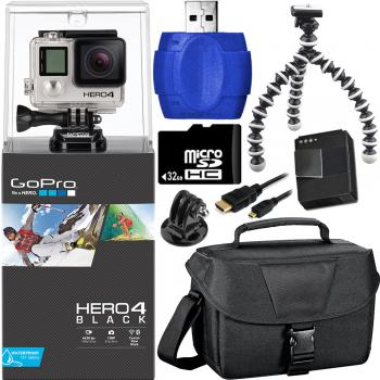 GoPro Hero4 Black Edition Camera + Car Kit Bundle