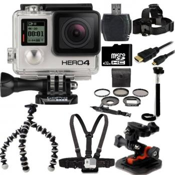 GoPro Hero4 Black Edition Camera + Outdoor Kit Bundle