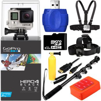 GoPro Hero4 Black Edition Camera + Surf Kit Bundle