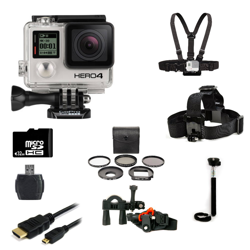 GoPro Hero4 Black Edition + Bike Kit Bundle