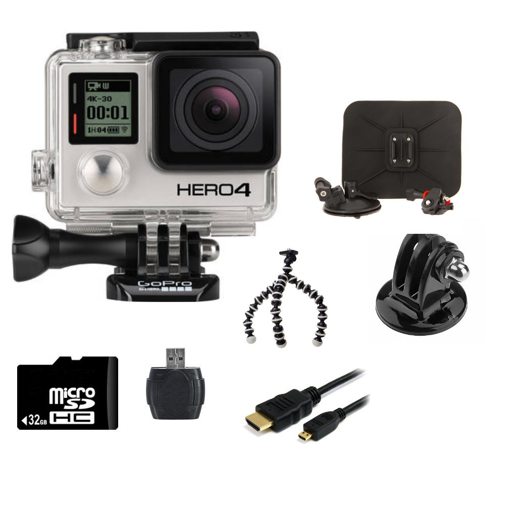 GoPro Hero4 Silver Edition + Car Kit Bundle