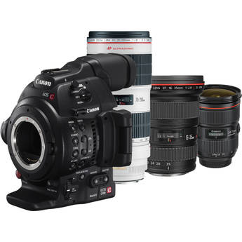 Canon EOS C100 Mark II Cinema EOS Camera Triple L Lens Kit (16-35 2.8L III 24-70 2.8L II 70-200 2.8L II)