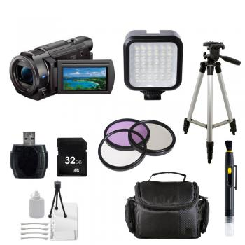 Sony FDR-AX33 4K Ultra HD Handycam Camcorder (NTSC) + Essential Accessory Bundle