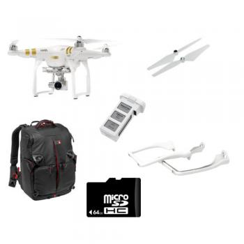 DJI Phantom 3 Professional with 4K Camera + Backpack for Phantom 3 & Custom Accessory Bundle