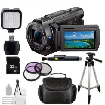 Sony 64GB FDR-AXP35 4K Camcorder with Built-In Projector (PAL) + Complete Accessory Bundle