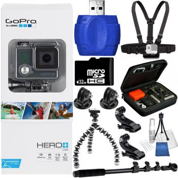 GoPro HERO+ LCD + 32GB Memory Card Accessory Bundle