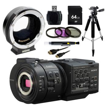 Sony NEX-FS700R Super 35 Camcorder with Metabones MB_EF-E-BT4 + Complete Accessory Bundle