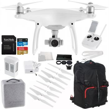 DJI Phantom 4 Drone SLRHut Exclusive Bundle With Red/Black Backpack