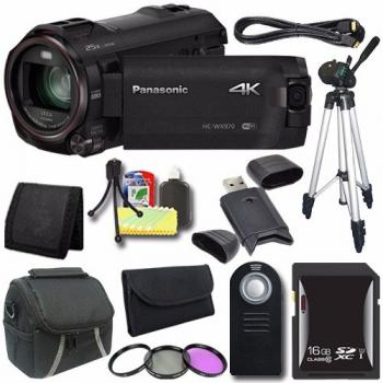 Panasonic HC-WX970 4K Ultra-HD Camcorder with Twin Video Camera + Universal Bundle