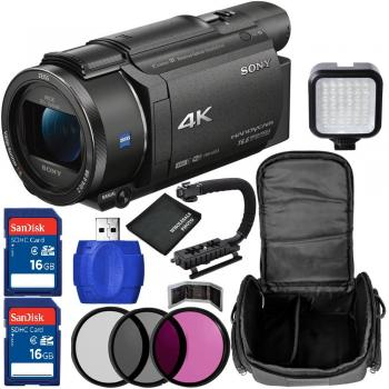 Sony FDR-AX53E 4K Ultra HD Handycam Camcorder Bundle (PAL)