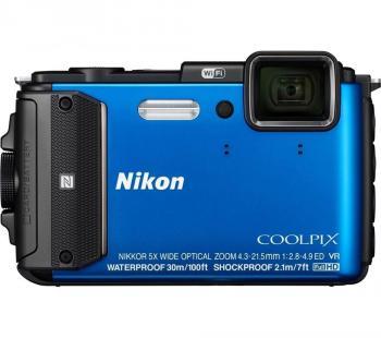 Nikon Coolpix AW130 Waterproof Camera (BLUE)