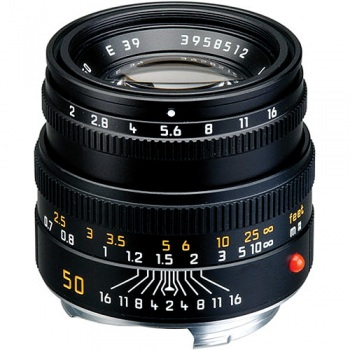 Leica Normal 50mm f/2.0 Summicron M Manual Focus Lens (6-Bit Updated for Digital) - Black