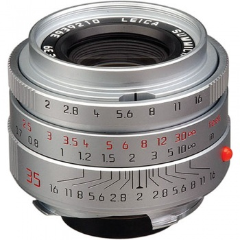 Leica Wide Angle 35mm f/2.0 Summicron M Aspherical Manual Focus Lens (6-Bit Updated for Digital) - Chrome