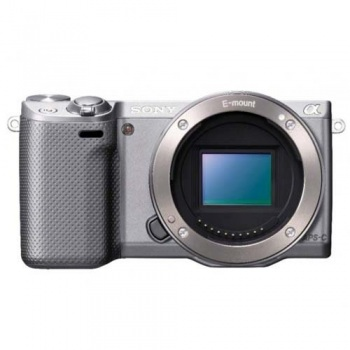Sony Alpha NEX-5R Mirrorless Digital Camera (Body Only)(Silver)(NEX5R)