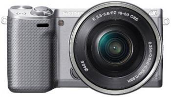 Sony Alpha NEX-5R Mirrorless Digital Camera with 16-50mm f/3.5-5.6 Retractable Zoom Lens (NEX5R)(Silver)