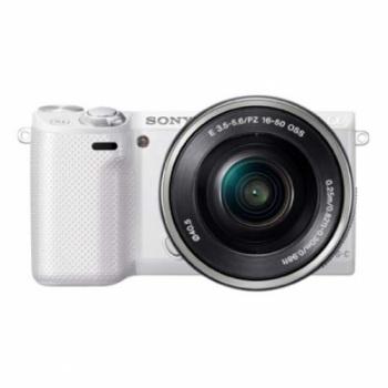 Sony Alpha NEX-5R Mirrorless Digital Camera with 16-50mm f/3.5-5.6 Retractable Zoom Lens (NEX5R)(White)