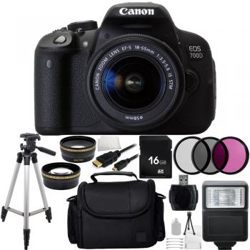 Canon EOS 700D / T5i DSLR Camera with EF S 18-55mm f/3.5 5.6 IS STM Lens Bundle