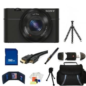 Sony Cyber-shot DSC-RX100 II Camera + Accessory Bundle