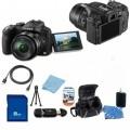 Panasonic Lumix DMC-FZ200 Digital Camera + Accessory Bundle