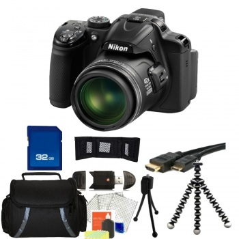 Nikon COOLPIX P520 Digital Camera (Black) + Accessory Bundle