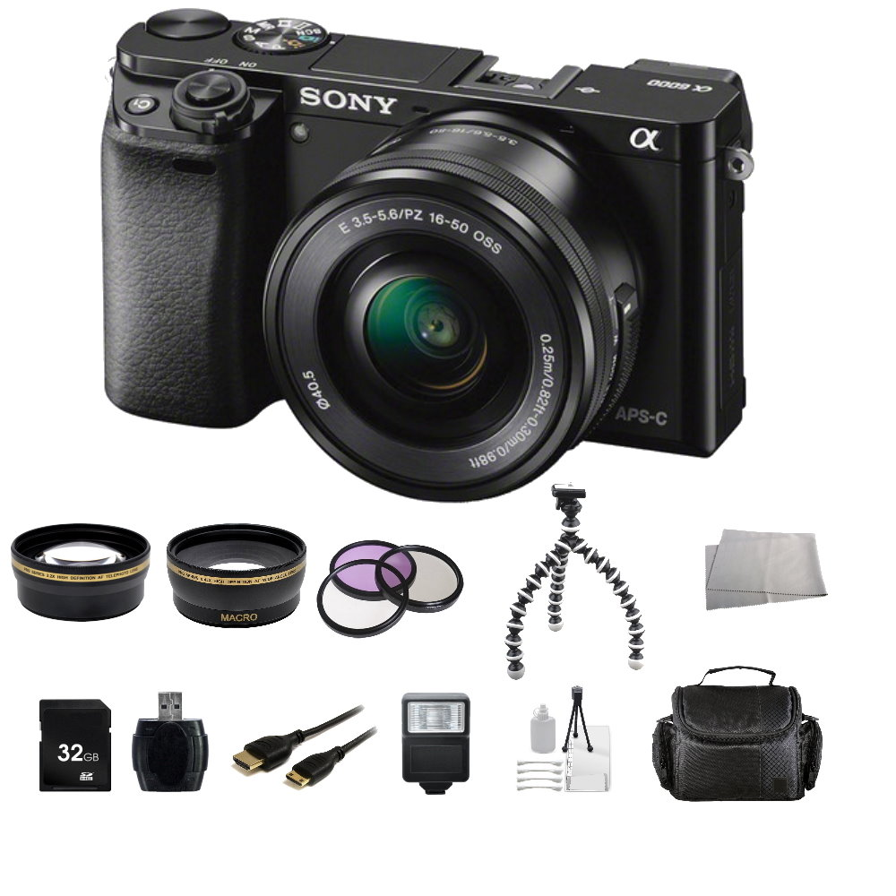 Sony Alpha a6000/ILCE-6000L Mirrorless Digital Camera with 16-50mm Len