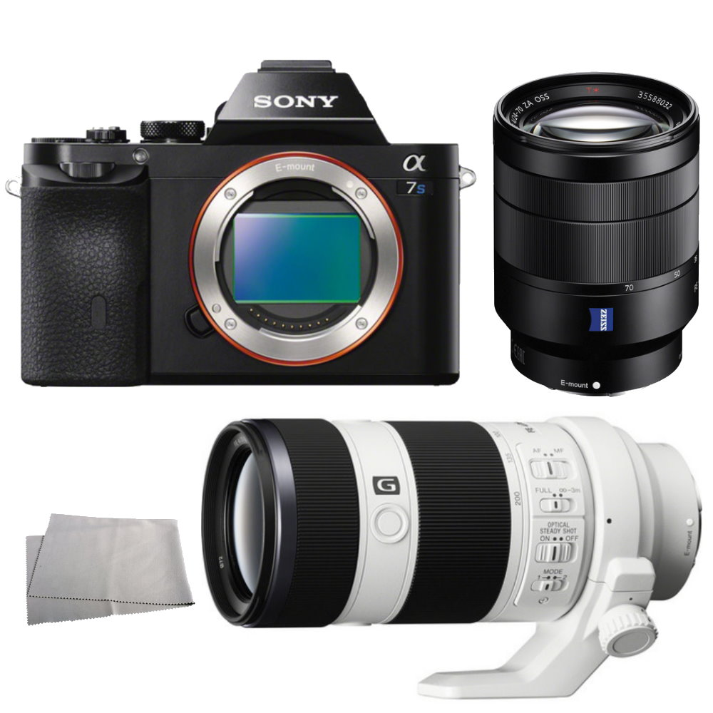 Sony Alpha a7S / ILCE 7S Mirrorless Digital Camera + Sony Vario Tessar T* FE 24 70mm f/4 ZA OSS Lens + Sony FE 70 200mm f/4.0 G OSS Lens