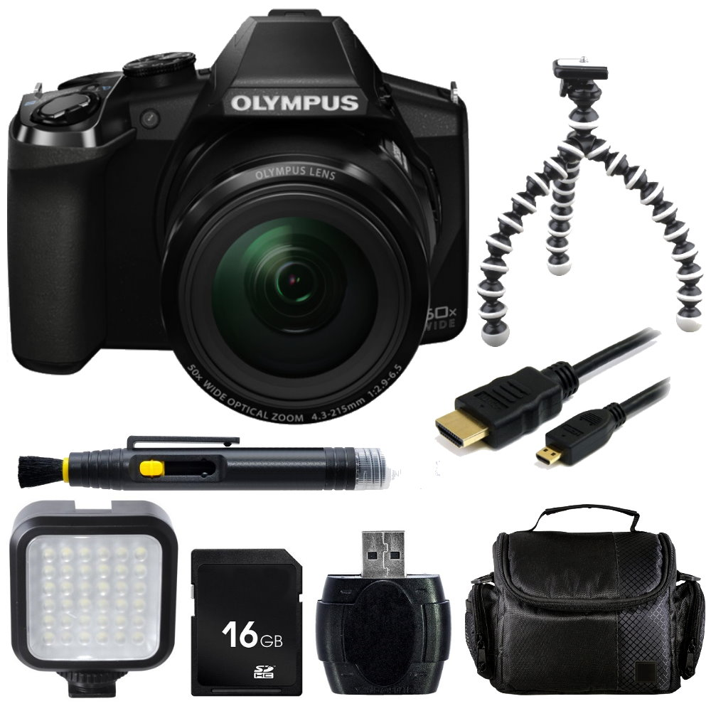 Olympus Stylus SP-100E Digital Camera + Accessory Bundle