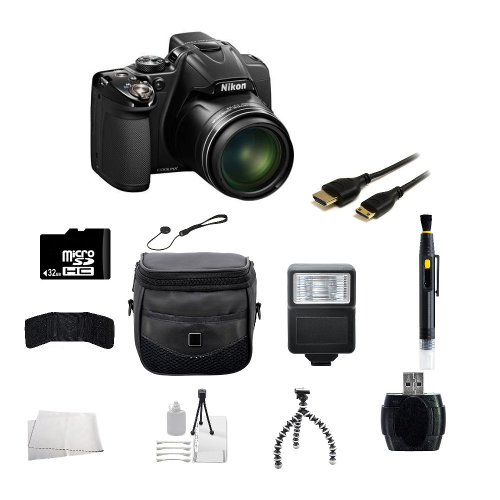 Nikon COOLPIX P530 16.1 MP CMOS Digital Camera with 32GB Accessory Bundle