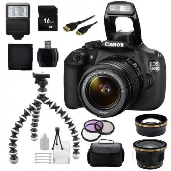 Canon EOS 1200D/T5 DSLR Camera with 18-55 Lens + Accessory Bundle