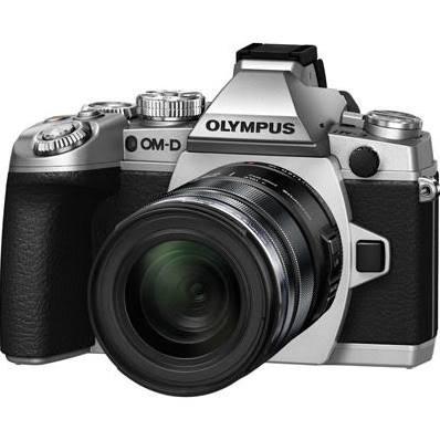 Olympus OM-D E-M1 Camera (Silver) + EZ M 12-50mm Lens
