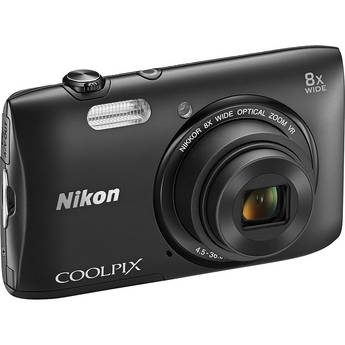 Nikon COOLPIX S3600 Digital Camera (Black)