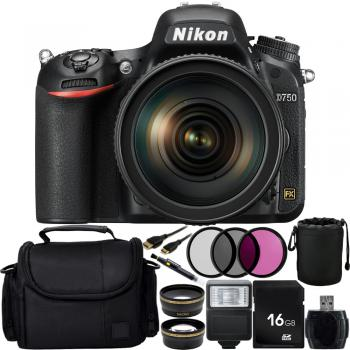 Nikon D750 DSLR Camera with 24-120mm VR Lens + Custom Accessory Bundle