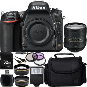 Nikon D750 DSLR Camera with AF-S 24-85mm VR Lens + Custom Accessory Bundle