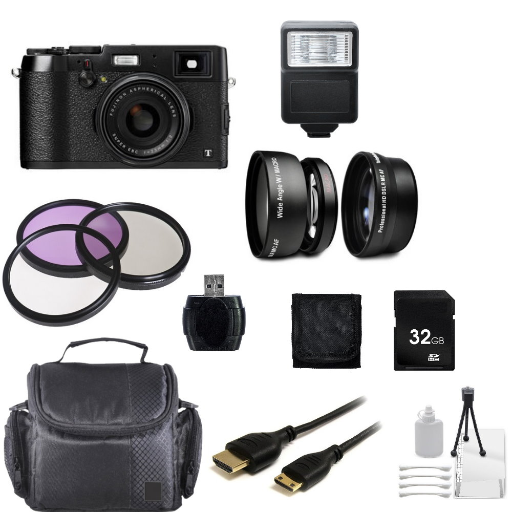 Fujifilm X100T Digital Camera (Black) + Professional Customized Bundle