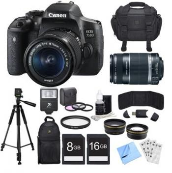 Canon EOS 750D/T6i DSLR Camera STM Twin Lens Kit