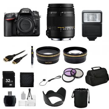 Nikon D7200 DSLR Camera with Sigma 10-20mm f/3.5 EX DC HSM Autofocus Zoom Lens For Nikon + Professional Real Estate Bundle