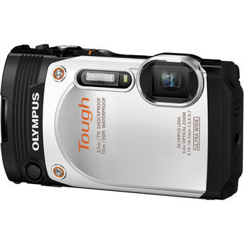 Olympus Stylus Tough TG-860 Digital Camera (White)