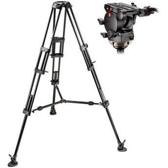 Manfrotto 509HD Video Head with 545B Tripod Legs Mid-spreader & a Padd