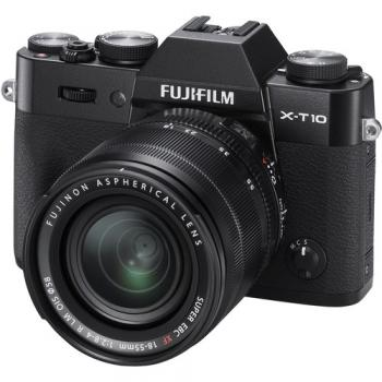 Fujifilm X-T10 Mirrorless Digital Camera with 18-55mm Lens (Black)